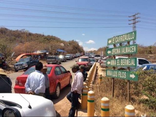 Ejiditarios cerraron mina de GoldCorp por más renta de tierras y agua limpia por el arsénico liberado