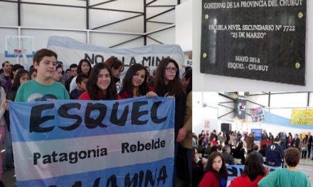 Escuela de Esquel recuerda con su nombre el plebiscito del 23 de marzo del 2003