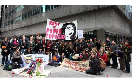 Conmemoración en Toronto por asesinato de joven opositoraa mina de Goldcorp/Tahoe Resources