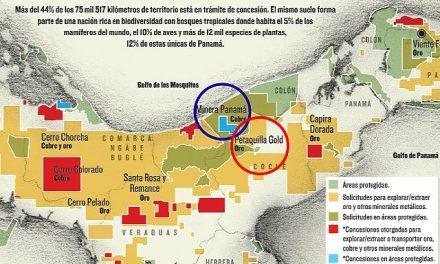 Dos mineras acuerdan sus territorios de saqueo en Panamá