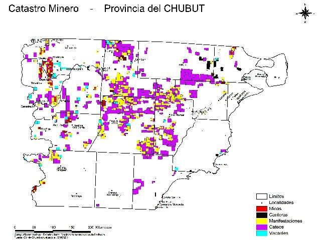 El 20,1% del territorio de Chubut entregado a las mineras