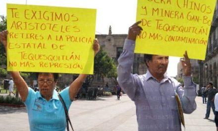 """Ejidatarios a la Minera Gan-Bo: """"que saquen todo y se vayan"""""""