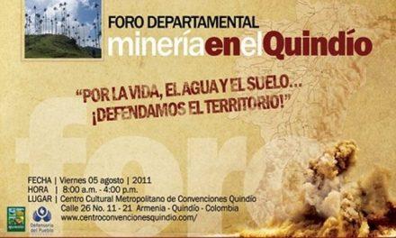 «No permitiremos explotaciones a cielo abierto en Quindío»