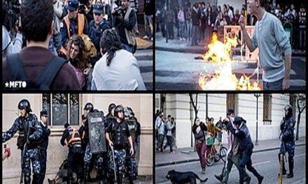 Represión policial y detenidos durante la reforma de la Ley Ambiental Provincial