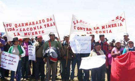 Comunidades del Valle del Sondondo en paro contra minera