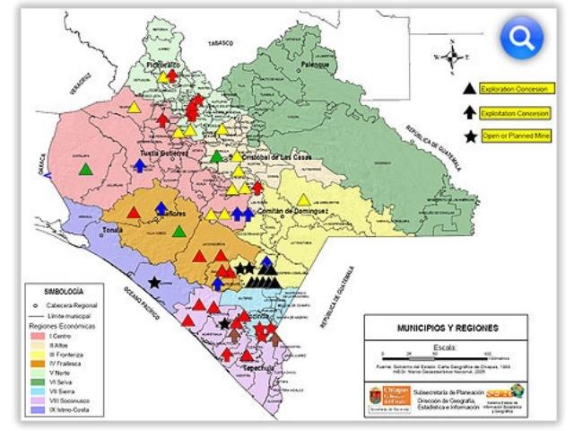 Mineras extranjeras y mexicanas exploran el subsuelo de Chiapas
