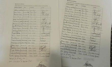 El manifiesto pro minero tiene un tercio de firmas truchas