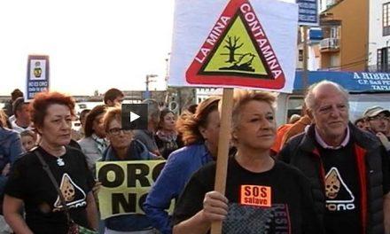 Manifestación silenciosa en Tapia contra la mina de oro