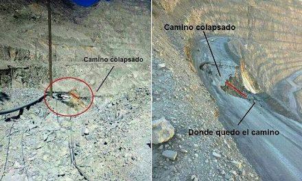 """Derrumbe según Minera La Alumbrera: """"Evento geotécnico de deformación por asentamiento en rampa principal de mina activa"""""""