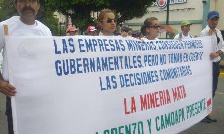 Policía protege al capital minero e impide protesta ciudadana contra minería