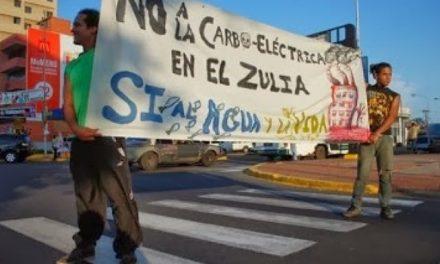 No a la carboeléctrica en el Zulia ni a la explotación de carbón en el río Socuy, si al agua y a la energía limpia del Parque Eólico de la Guajira