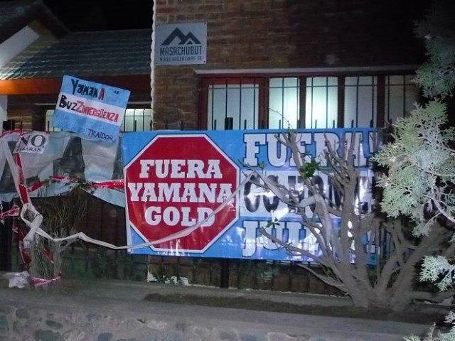 Por fallo judicial Minas Argentinas-Yamana Gold no puede tener un local u oficina en Esquel