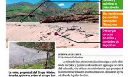 Descarga contaminantes la mina San Antonio del Grupo México