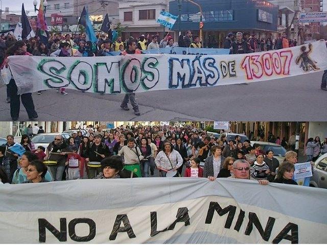 Yo, vos, todos: Movilizados y respaldando el proyecto de ley para prohibir la megaminería en Chubut