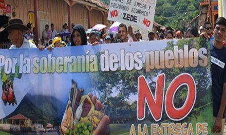 Protestan contra las Zonas Exclusivas de Desarrolo y minería en el sur de Honduras