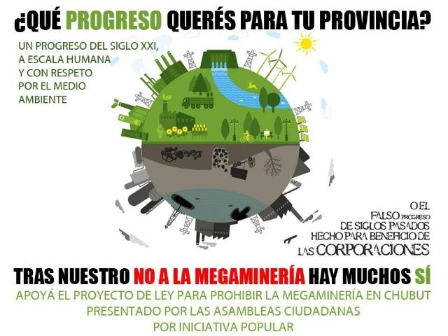Este martes 4 salí a la calle para decir qué «progreso» querés para Chubut