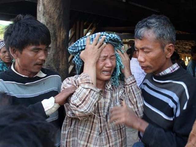Aldeanos de Myanmar en resistencia por segundo día contra mina