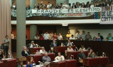 Unión de Asambleas Chubutenses presenta recurso de apelación pidiendo la nulidad del fraude legislativo del 25/11/14
