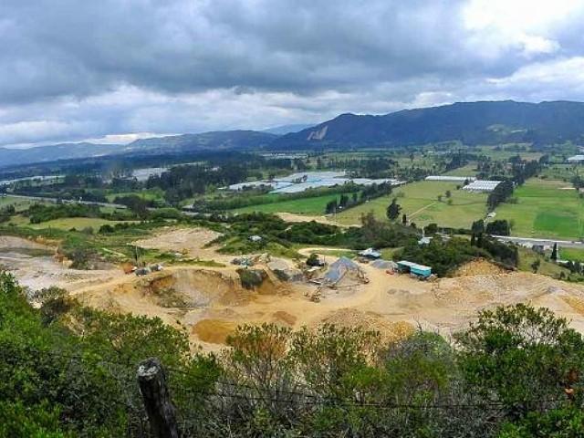 La expansión minera alarma a Cogua