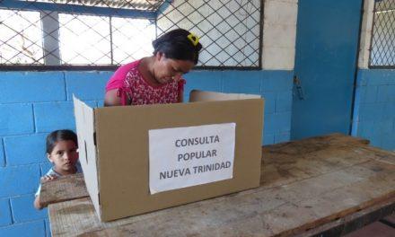 """Población de Nueva Trinidad decidió vivir en """"Territorio libre de Mineria"""" en consulta popular"""