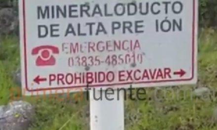 Se rompió el mineraloducto de Minera La Alumbrera por la crecida del río Cochuna