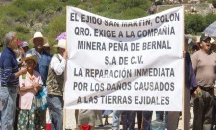 Acusan ejidatarios a minera de dañar tierras