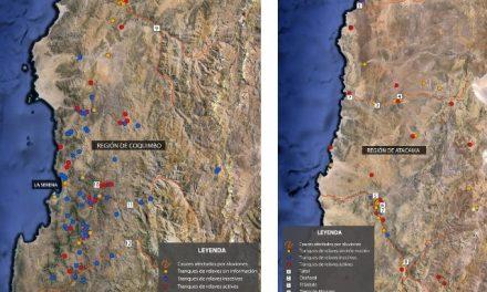 Relaves mineros sobre la población afectada por aluviones en el norte de Chile