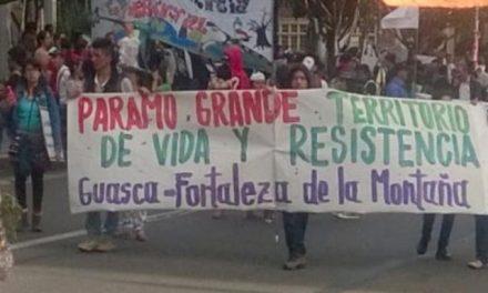 Marcharon en Bogotá para que no se entreguen licencia minero-energéticas en los páramos