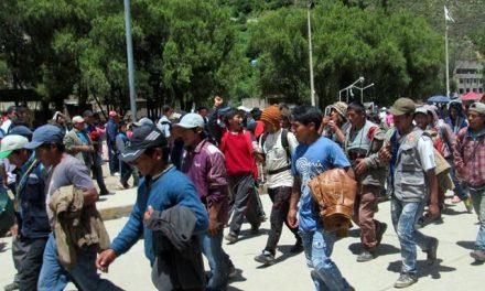 El distrito de Ocobamba rechazó actividad minera con paro