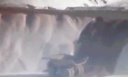 En el yacimiento Veladero un camión desbarrancó y el conductor salió ileso, la montaña no