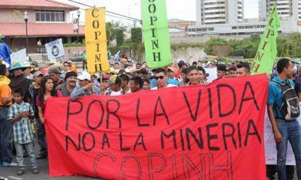 COPINH manifestó en Tegucigalpa contra la actividad minera en Honduras
