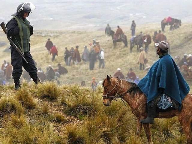 Minería, militarización y criminalización de la protesta social en América Latina
