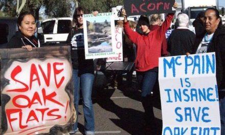 Apaches marcharon a Washington contra un proyecto minero en centro ceremonial