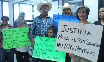 Pobladores del Río Sonora siguen exigiendo justicia por el derrame minero