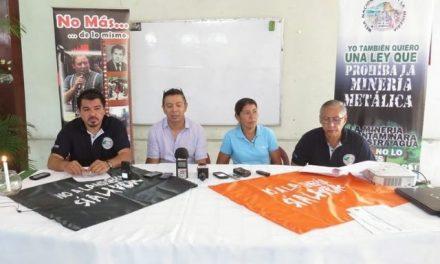 Mesa Frente a la Minería pide a diputados ley que prohíba la explotación minera