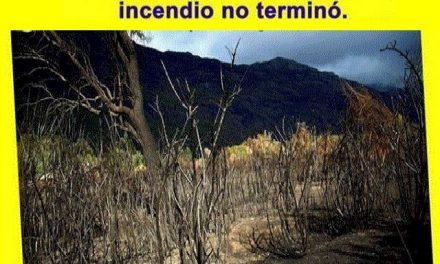 A cinco meses de los incendios forestales los vecinos reiteran demanda de medidas y acciones