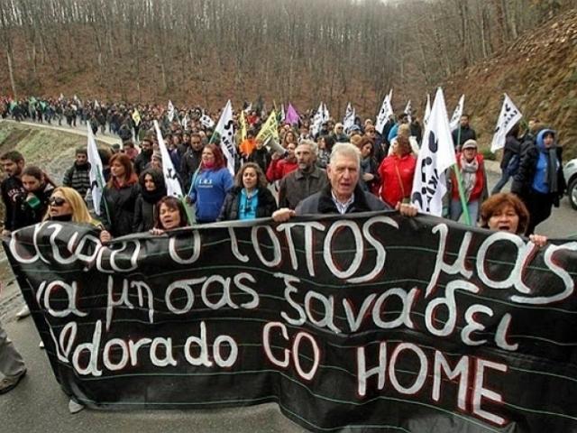 Gobierno griego detiene temporalmente actividad en mina de oro