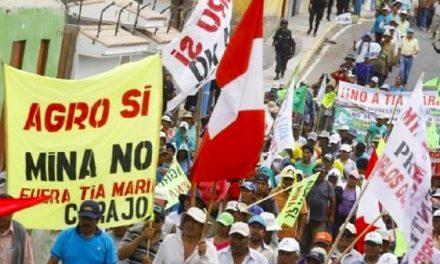 Anuncian nueva marcha contra proyecto Tía María para el 23 de setiembre