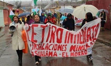 Valle del Huasco marchó con lluvia por el agua y la vida y el cierre definitivo de Pascua Lama