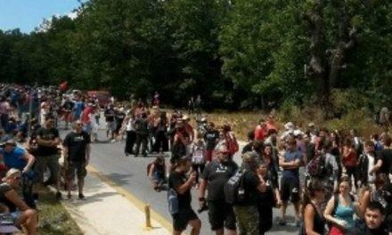 Nueva represión policial contra marcha anti-minera en Calcídica