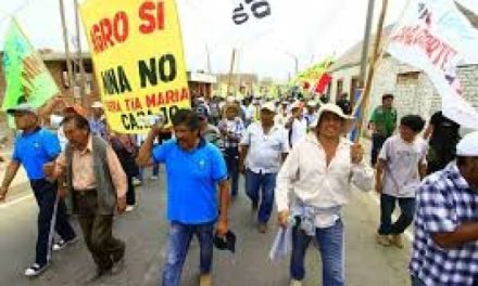 Continúan las movilizaciones contra proyecto minero Tía María