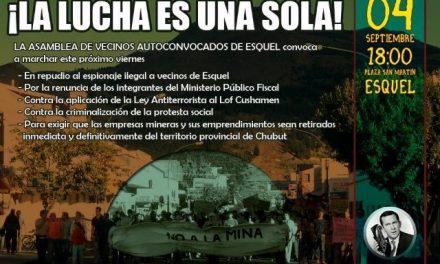 Marcharán en Esquel en defensa del territorio y en repudio al espionaje a vecinos