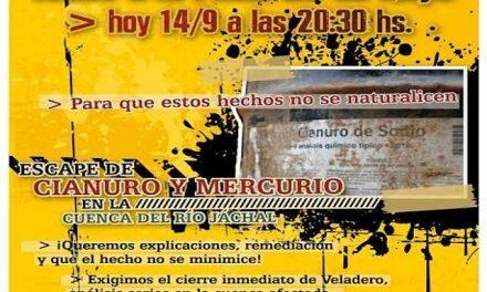 El derrame de cianuro en Veladero desencadena asambleas y movilizaciones urgentes