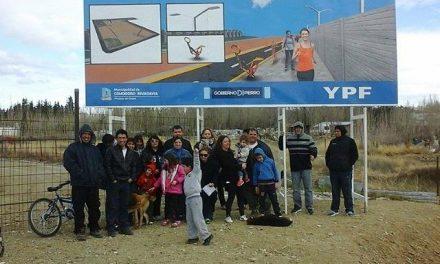 No a los pozos petroleros en nuestro barrio, el Malvinas de Comodoro Rivadavia