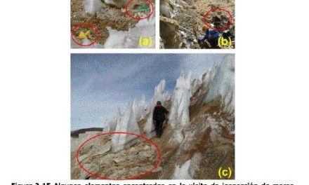 Desechos industriales en glaciares del área Pascua Lama
