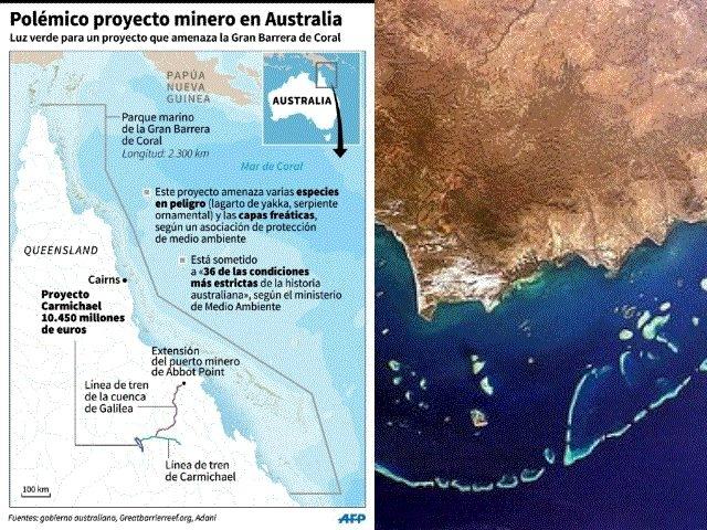 Nuevo recurso contra proyecto minero próximo a Gran Barrera de Coral de Australia