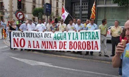Las Cortes de Aragón piden la paralización definitiva de la mina en Borobia