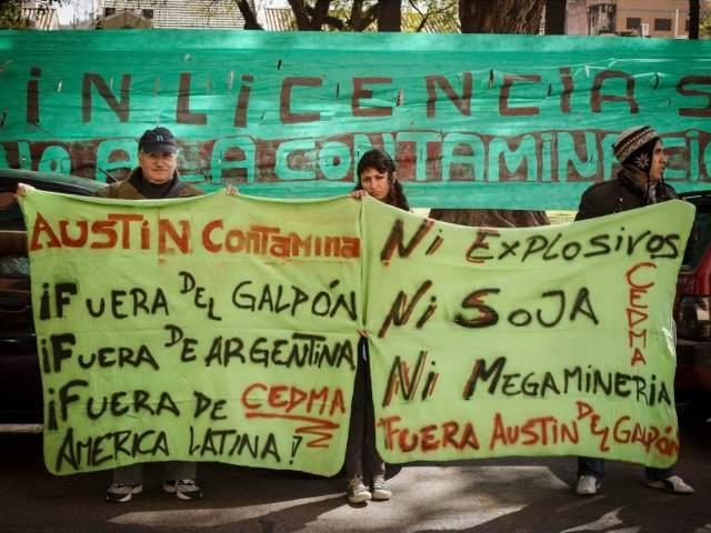 A la lucha de los pobladores de El Galpón contra la megaminería no los detienen ni los terremotos ni la policía