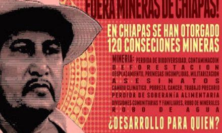 Siguen los rechazos a la minería en el estado de Chiapas