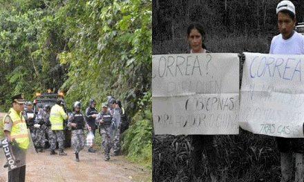 Policía y minera china desalojan a habitantes en Tundayme